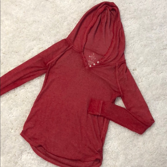 American Eagle Outfitters Tops - American Eagle Waffle T with Hood